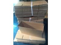 Brand new 100 single ply rectangular cardboard boxes