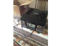 Steepletone radio and record player brand new in box black retro