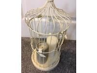 Cream Decorative Birdcage / Candle Holder