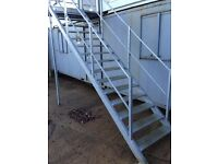 Steel Staircase for Double Stacked Container Office