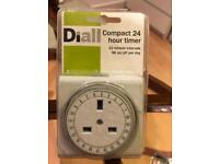 Diall Compact 24 hour timer 15mins intervals NEW