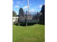 large trampoline 13ft, all parts present and in good order