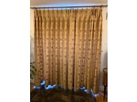 Beautiful Gold Pencil Pleat lined curtains