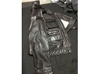 Purple by Victor Trehan Leather Bomber Jacket