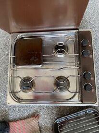 3 burner campervan/ caravan hob with grill