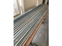 Plasterboard ceiling channels.