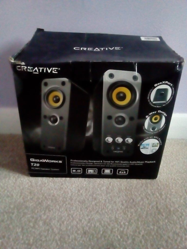 Creative Gigaworks T20 Pc Mp3 Portable Speaker System For Sale 25 Hi Fi
