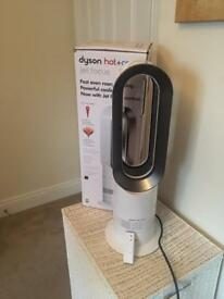 Dyson hot + cold jet focus fan silver/nickel