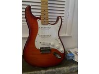 Fender Stratocaster flame plus top seymour duncan pickups possible TRADE