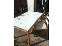 Shabby Table and comes with 3 chairs