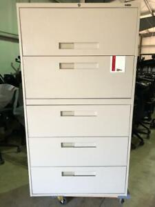 Global 5 Drawer Lateral Filing Cabinet - Beige - $325.00