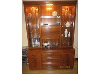 Living Room Display Cabinet in Teak colour