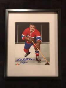 Montreal Canadiens Phil Goyette Signed and framed photo