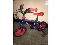 """12"""" Spider-Man Bike & Wooden Balance Bike"""
