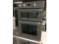 Hotpoint DH53WS 597mm Electric Double Oven with 116L Capacity in White