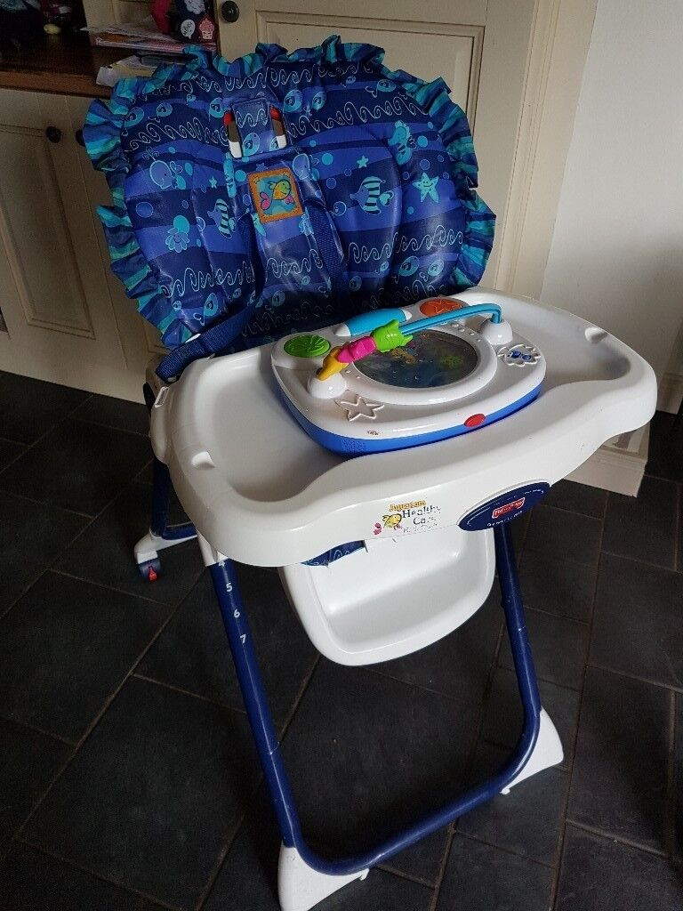 Fisher price high chair with activity tray