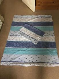 sailor toddler bedding set with pillowcase. No fitted sheet.