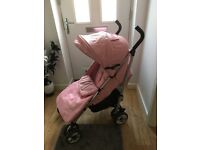 Pink massimo leatherette stroller