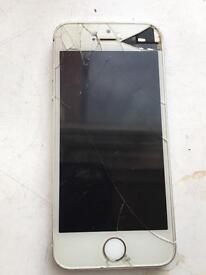 iPhone 5S cracked screen sold as parts