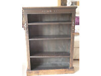 Dark wooden book case, really solid, 107cm tall 75cm wide