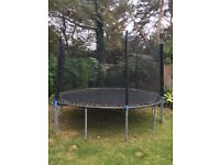 12ft Trampoline with new net and upright poles