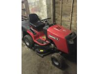 Sit on lawnmower hardly used like new
