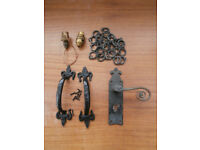 Assorted Vintage Ironmongery Plus Table Lamp Fittings