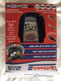 Optimate 2 12v 0.8A Battery Charger - Motorbike - used once!