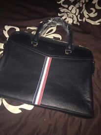 Thom Browne laptop bag not Gucci briefcase