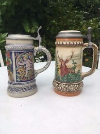 Pair of Beer Steins - ideal for Octoberfest