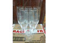 x6 Pilsner Urquell beer PINT glasses, in very good used condition - Haringey N8