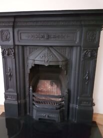 Black Cast Iron Fireplace