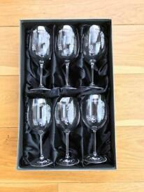 Wine glasses - Gleneagles Design Mackintosh roses red wine