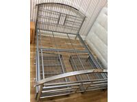Stainless Steel Double Bed Frame Excellent Condition