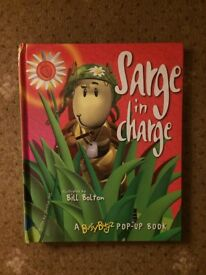 Sarge In Charge Pop Up Hardback Book.