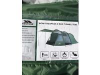 Trespass 6 man tunnel tent , like brand new