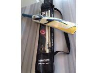 Slazenger cricket bat, stumps and soft ball set