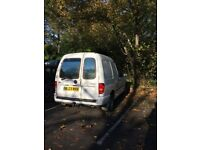 VW Caddy white VAN 2003 for QUICK SALE includes SatNav TomTom