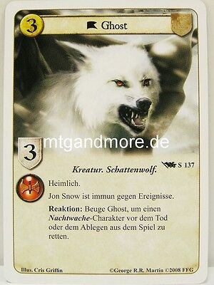 Ghost Game Of Thrones (A Game of Thrones LCG - Base Set deutsch - 1x Ghost  #137 S)