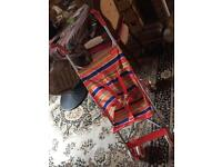 Red kite baby push chair red used £5 good condition