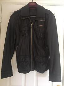Men's large Superdry leather jacket