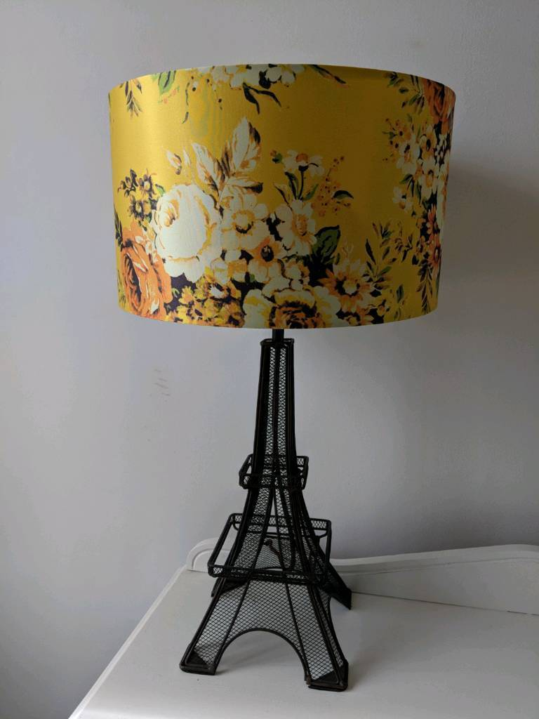 Yellow floral paris eiffel tower table lamp in castlereagh yellow floral paris eiffel tower table lamp aloadofball Images