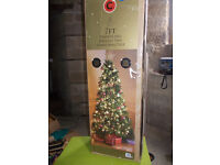 Huge 7' Traditional English Fir Christmas Tree ***As new/completely unused/still in original box***