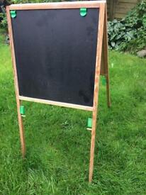 Kids blackboard and whiteboard easy