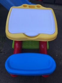 Child's outdoor play table