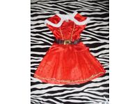 Beautiful Girls Red Sparkly Christmas Dress with Shrug 3-4 Years