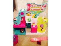 Shopkins bundle- ice cream van, shoe shop, sweetie shop, shopkins girl and 46 shopkins.