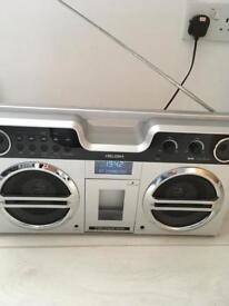 Bush Retro Boombox with Docking Station - Silver + Bluetooth