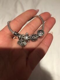 Authentic pandora bracelet and charms