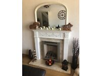 Gas fire, fireplace, surround plus mirror